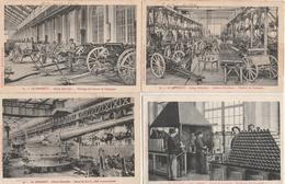 18 / 2 / 326    LOT  DE  8  CPA  LE  CREUSOT  -   USINES  SCHNEIDER - Postcards