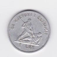 Peu Commune 1 Lek Aluminium Albanie Socialiste 1969   TB/TTB - Albania