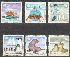 POLAND MNH ** 2886-2891 PECHE. POISSON. PHOQUE. PINGOUIN. BATEAU Boat Fish Voile Voilier - 1944-.... Republic