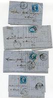 LOZERE De MARVEJOLS 7 LAC Avec N°22 23 Et N°28 Oblitérés GC 2252 ( 2 Scans) - 1849-1876: Période Classique