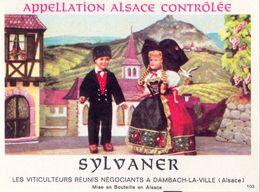 1 Etiquette Ancienne De VIN - SYLVANER - LES VITICULTEURS REUNIS A DAMBACH LA VILLE - Riesling