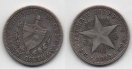 + CUBA + 20 CENTAVOS 1915 + - Cuba