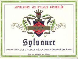 1 Etiquette Ancienne De VIN - SYLVANER - UNION VINICOLE DIVINAL A COLMAR - Riesling