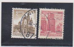 AUTRICHE   1957-65  Y.T. N° 869AA  à  874Aa   Oblitéré  871A  872A - 1961-70 Used