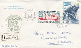TAAF Lettre Recommandée Martin De Vivies 1980 - Stamps