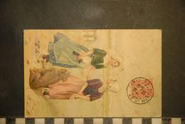 CP, Folklore, Deux Jeunes Filles Avec Chien - Costumes