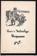 1898 Faculté Des Lettres De Caen / Cours De Dialectologie Normande  à L'Université De Caen (14) Dessin J.L. Rame - Documents Historiques