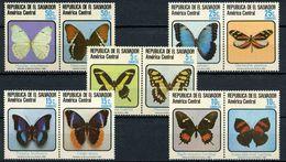 El Salvador 1983 Butterflies 10v MNH** - Schmetterlinge