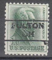 USA Precancel Vorausentwertung Preo, Locals Ohio, Fulton 872 - Vereinigte Staaten