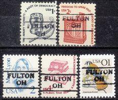 USA Precancel Vorausentwertung Preo, Locals Ohio, Fulton 872, 5 Diff. - Vereinigte Staaten