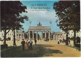 Alt Berlin - Unter Den Linden Mit Brandenburger Tor - (D.) - Brandenburger Deur