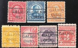 USA Precancel Vorausentwertung Preo, Locals Ohio, Galion 490, 6 Diff. Perf. 11x10 1/2 - Vereinigte Staaten