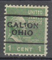 USA Precancel Vorausentwertung Preo, Locals Ohio, Galion 701 - Vereinigte Staaten