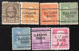 USA Precancel Vorausentwertung Preo, Locals Ohio, Galion 701, 7 Diff. - Vereinigte Staaten