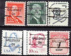 USA Precancel Vorausentwertung Preo, Locals Ohio, Galloway 841, 6 Diff. - Vereinigte Staaten
