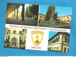 SCUOLA DI SANITA' MILITARE 1° CENTENARIO 1982 CASERMA CARTOLINA STORIA POSTALE ANNULLO DISTACCATO - Barracks