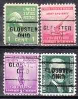 USA Precancel Vorausentwertung Preo, Locals Ohio, Glouster 703, 4 Diff. - Vereinigte Staaten
