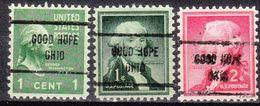 USA Precancel Vorausentwertung Preo, Locals Ohio, Good Hope 713, 3 Diff. - Vereinigte Staaten