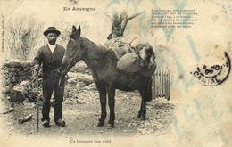 En Auvergne Un Bourgois Bien Traité  Collection Gely,Salers Recto Verso - France