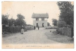 SAINT-MARIEN - La Gare (vue Animée) - Other Municipalities