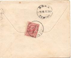 CINIGIANO Grosseto Per ROMA - 18.6.1915 - Busta 10c. Leoni 9/172 - 1900-44 Vittorio Emanuele III