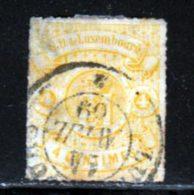 Luxembourg 1865 Yvert 14 (o) B Oblitere(s) - 1859-1880 Wappen & Heraldik