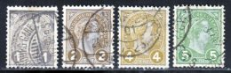 Luxembourg 1895 Yvert 69 / 72 (o) B Oblitere(s) - 1895 Adolphe Right-hand Side