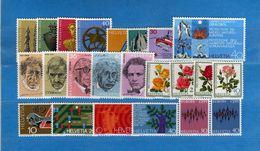 (Riz) Svizzera ** -1972 -  Annata Completa, Année Complète.- 24 Valeur .  MNH.  NEUF. Vedi Descrizione - Unused Stamps