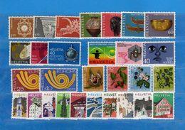 (Riz) Svizzera ** -1973 -  Annata Completa, Année Complète.- 29 Valeur .  MNH.  NEUF. Vedi Descrizione - Unused Stamps