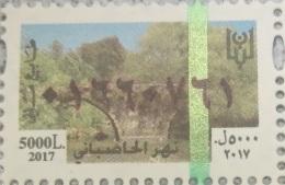 Lebanon 2017 NEW MNH Fiscal Revenue 5000 LL, Hasbani River - Lebanon