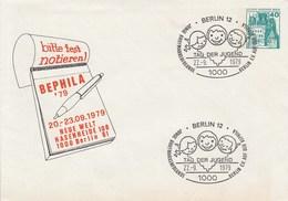 B PU 70/8  Bitte Notieren BEPHILA'79 Neue Welt Hasenheide 1000 Berlin 61, Berlin 12 - Private Covers - Used