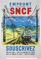 Emprunt Pour L'equipement De La SNCF Souscrivez 1950s - Postcard - Poster Reproduction - Publicité