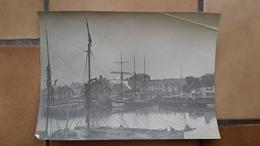 GRANDE PHOTO ANCIENNE - CHERBOURG 50 MANCHE - BATEAU GALLIC - VOILIER - Boats