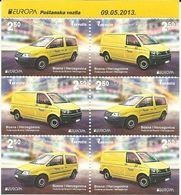 BH 2013-618-9 EUROPA CEPT, BOSNA AND HERZEGOVINA, BLATT,, MNH - Autos