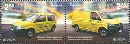 BH 2013-618-9 EUROPA CEPT, BOSNA AND HERZEGOVINA, 1 X 2v, MNH - Autos