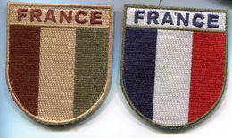 X26 OPEX ECUSSON TISSUS SUR VELCRO  FRANCE DEUX VERSIONS - Armée De Terre