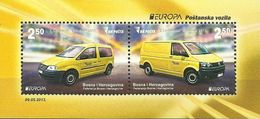 BH 2013-618-9 EUROPA CEPT, BOSNA AND HERZEGOVINA, S/S, MNH - Autos
