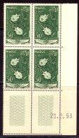 Maroc PA 1953 Yvert 93 ** TB Coin Date - Airmail