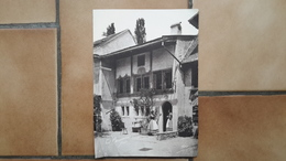 GRANDE PHOTO ANCIENNE - GENEVE SUISSE - COSTUMES TYPES - Lieux