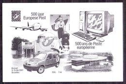 Belgie - 2001 - OBP -   ** 500 Jaar Europese Post ** - Feuillets Noir & Blanc