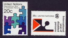 NU (New York) 1981 Yvert 335 / 336 ** TB - Nuovi