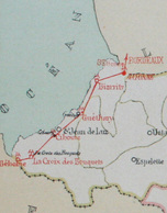 FRANCE Rare Carte Ligne Télégraphique Des BASSES PYRENEES Bordeaux Bayonne Atlas De Kermabon Télégraphe Aérien De Chappe - Documents Historiques