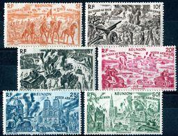 "REUNION  1946  MNH - "" SUJETS DIVERS - Tchad Au Rhin "" - 6 VAL. - Nuovi"