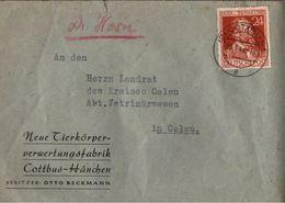 ! 1948 Beleg Aus Cottbus - Zone AAS
