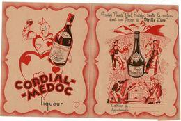ALCOOLS ET VIN. 1 Protège-cahier Et 5 Buvards - Buvards, Protège-cahiers Illustrés
