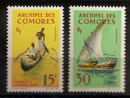 N° 33 & 34 NEUF AVEC CHARNIERE - Comores (1975-...)