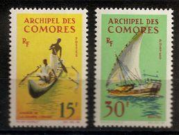 N° 33 & 34 NEUF AVEC CHARNIERE - Comoren (1975-...)