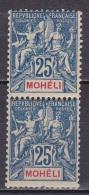 Moheli N°7**x 2 - Mohéli (1906-1912)