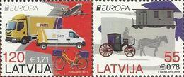 LV 2013- EUROPA CEPT, LETONIA, 1 X 2v, MNH - Cars