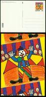 GA Dänemark Ganzsache 2002 - Postkarte MiNr P 323 Motiv 01 - Mint - Zirkus Clown - Interi Postali